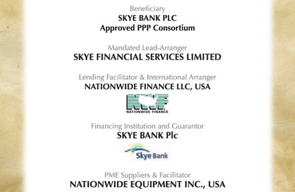 Skye Bank PLC Approved PPP Consortium